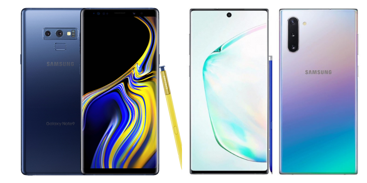 Compare Galaxy Note 9 vs Note 10