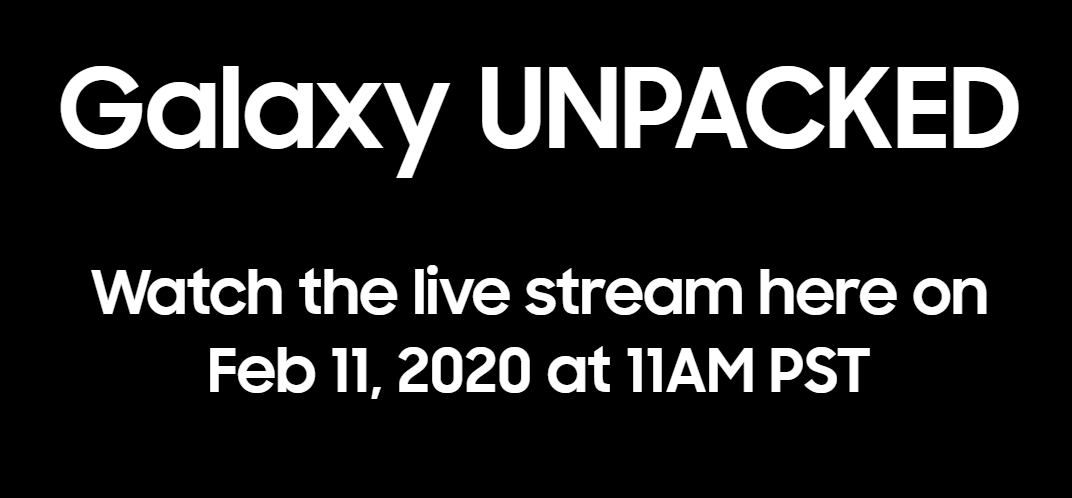 Galaxy Unpacked event 11 feb 2020